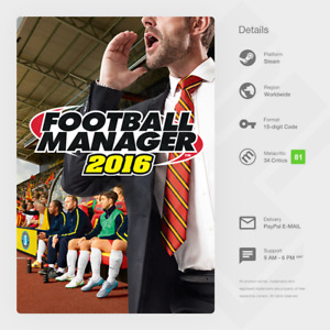 Football Manager 2016 (PC, MAC, LINUX) - Steam Key [GLOBAL, MULTI-LANG]