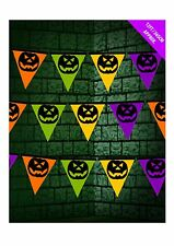 Pumpkin Pennant Buntings Halloween Horror Party Decoration Scene Setter P8490