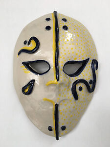warrior mask porcelain nc artist Helen Seebold