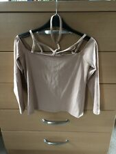 ASOS PINK COLD SHOULDER STRAPPY TOP WITH STRETCH  SZE 12 PETITE NWT