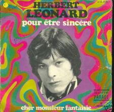 HERBERT LEONARD 45 TOURS FRANCE POUR ETRE SINCERE+