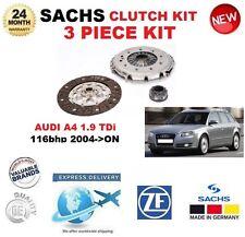 pour Audi A4 1.9 TDI 116BHP à partir de 2004 SACHS 3 pièce Neuf Kit embrayage