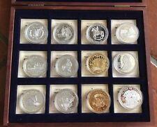 Coffret Médailles  «Illustres Pièces Des USA» 12 Pièces Dollars 40 Mm