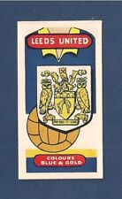 LEEDS UNITED The Peacocks LUFC  Club Badge 1958 card ELLAND ROAD