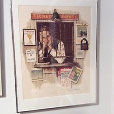 """NORMAN ROCKWELL """"TICKET SELLER"""" 1975   SIGNED LITHOGRAPH"""