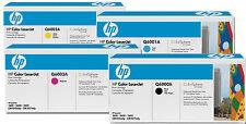 Original HP 124a 4x tóner Rainbow kit a LaserJet 1600 2600n 2605 2605dn cp2600