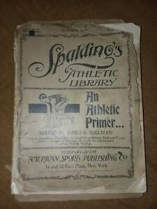 Antique Spalding Atheletic Library Book 1896