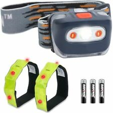 Rubber Camping & Hiking Headlamps with 4 Batteries