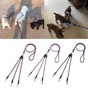 3 Way Smooth Triple Coupler 3 Dogs Walking Lead Leash Elastic Bungee Rope UK