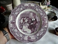 America Pilgrim Exiles Colonial Times Mulberry Plate Crown Ducal John Smith