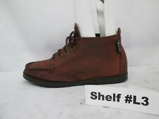 EASTLAND Brown Leather Moc Toe Lace Ankle Boots Size 6.5 M USA