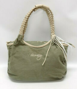 BROWNING TAN, OLIVE GREEN CONCEAL & CARRY SHOULDER PURSE ~ EUC
