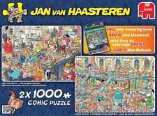 JUMBO JIGSAW PUZZLE HAPPY HOLIDAYS JAN VAN HAASTEREN 2 X 1000 PCS #19024 CARTOON