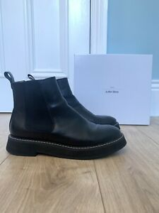 And Other Stories Black Leather Chelsea Boots Size 41