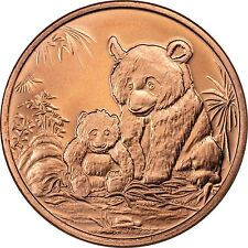 100 Ounces Of Copper 1 oz Each PANDA BEAR Bullion Rounds # C07