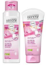 Lavera ORGANIC Mallow & Pear Extract - Shampoo & Conditioner - Gloss & Bounce