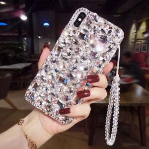 For LG Stylo 6 5 4 Luxury Bling Diamond Rhinestone Case Cover & Wristband Strap