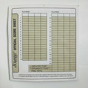 Scrabble Deluxe Replacement Score Sheet Pad 40 Sheets Game Parts Accessories