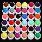 48 Colors Acrylic Powder Liquid Nail Art Kit Glitter UV Gel Glue Tips Brush Set