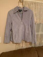 Ralph Lauren Suede Jacket, light blue Women's Med. SUPER SOFT