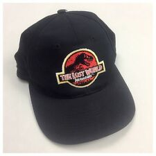 Vintage 90s Jurassic Park The Lost World Black Snapback Cap Retro VTG RARE