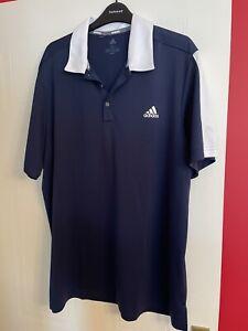 Adidas Polo Shirt XL Blue And White BNWOT