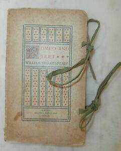 Rarissimo antico libro Romeo and Juliet Shakespeare 1908 Aldine series