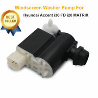1x Windscreen Washer Pump Front Rear Twin Outlet For Hyundai Accent I20 i30 FD
