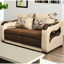 Sofa Bed PARIS 2, 2-Seater, Sleep Function, Bedding Container, Springs, New