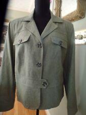 NewWorthington Lined Peplum Blazer Jacket,Plus Sz18,Celedon,Linen BlendCareer