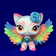 Littlest Pet Shop, Short Hair, Cat, With Rainbow Wings Custom, Hand Painted, Lps