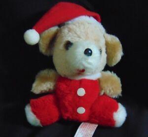 Jolly 1978 Russ Berrie Bear Santa Hat Vintage CUTE!