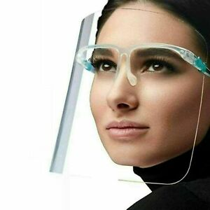 Anti-Fog Full Face Shield Protection Visor with 4 screens and 1 glasses frame