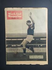 THE ARGUS WEEKEND MAGAZINE - COVER JACK MUELLER MELBOURNE FOOTBALL CLUB