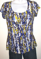 Ann Taylor Women's Stretch Pullover Scoopneck Short Sleeve Top Size Medium