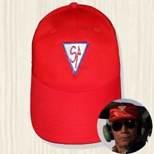 Airwolf Hat Dominic Santini Air Logo Red Cap String Hawke Helicopter Embroidered