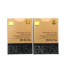 2 x Genuine New EN-EL15A Battery For D850 D7500 D750 D810 D7200 D7000 D7100