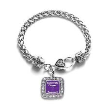 Inspired Silver Pancreatic Cancer Awareness Classic Braided Charm Bracelet