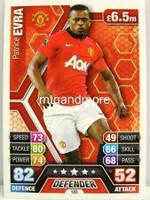 Match Attax 2013/14 Premier League - #185 Patrice Evra - Manchester United