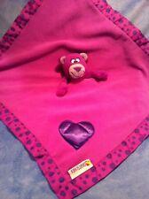 Purple Bear Lovey Dots Smart Scents Heart Security Baby Blanket Nuby Woobie GUC