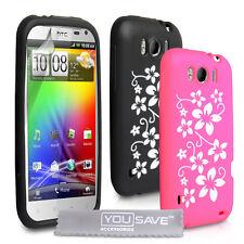 Accessories For HTC Sensation XL Stylish Floral Design Silicone Case Cover Skin
