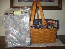 NEW Longaberger Early Harvest Fabric Liner 4 Your Medium Market Basket NIOB