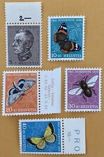 Switzerland 1950 Pro Juventute Stamps MNH and MLH