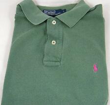 Men's Polo by Ralph Lauren Sz Large L Hunter Green SS Polo Shirt