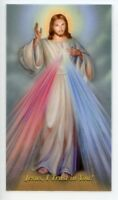 CHAPLET OF THE DIVINE MERCY - Laminated  Holy Cards.  QUANTITY 25 CARDS