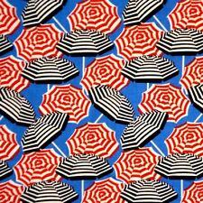 Cabana II Striped Beach Umbrella Toss Umbrellas Blue Cotton Fabric Fat Quarter