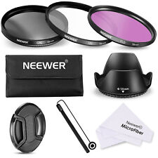 Neewer 58mm Lens Filter Accessory Kit UV CPL FLD for Canon Rebel Rebel T5i T4i