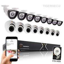16CH DVR Home Security CCTV Alarm System + 800tvl Camera Weatherproof 1TB HDD