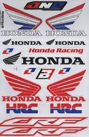 1x Decals Wings Honda Logo Racing Stickers Sheet Emblem Motorcycle Racing S44