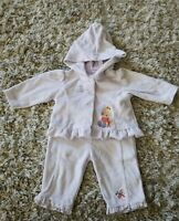 Infant Baby Girls 0-3 mo Precious Moments 2pc Outfit Jacket Pants Purple Velour